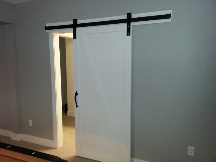 Barn doors barn door track the glass door store for Single sliding barn door