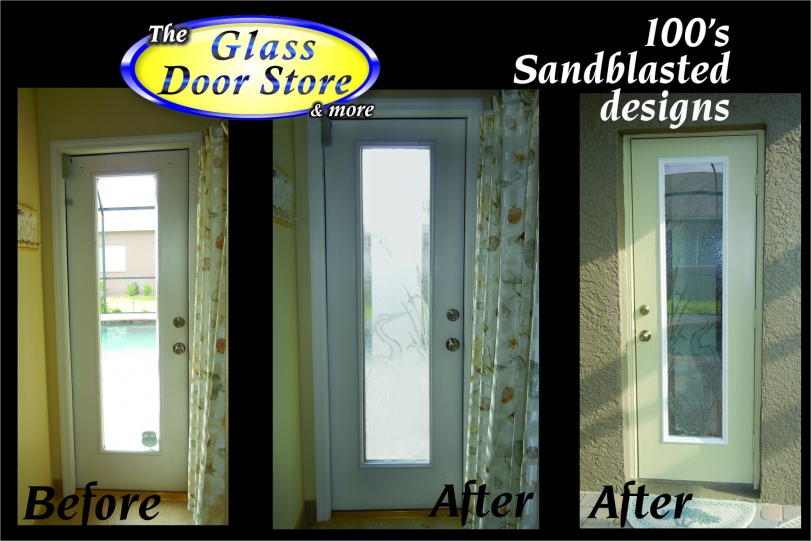Etched-glass-on-rainglass-for bathroom-door & Bathroom Doors - The Glass Door Store