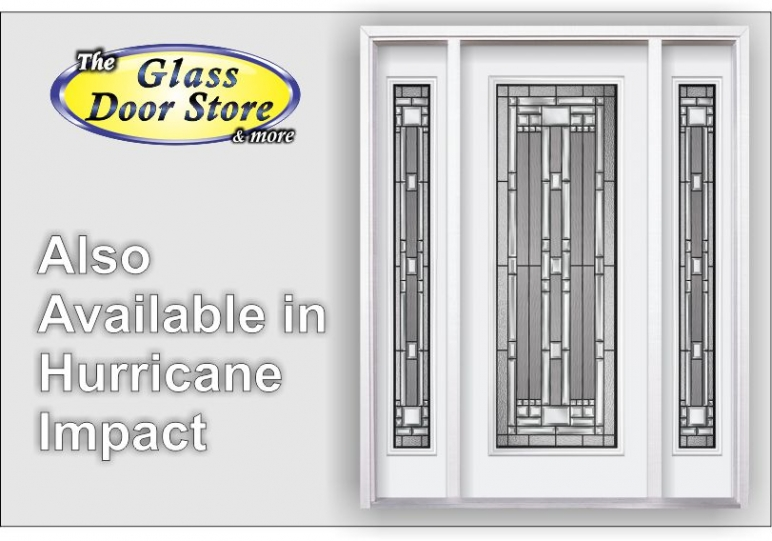 Naples Hurricane impact glass front entry door