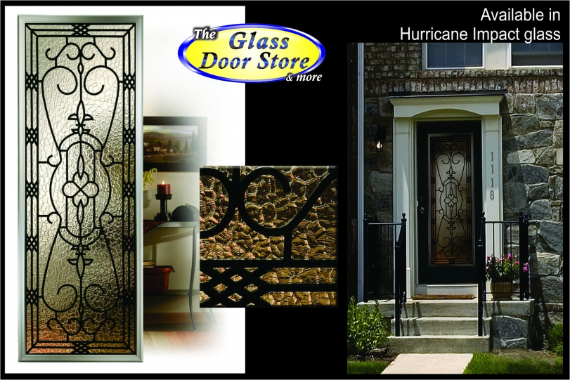 impact-wrought-iron-Hurricane-impact-glass-door-inserts