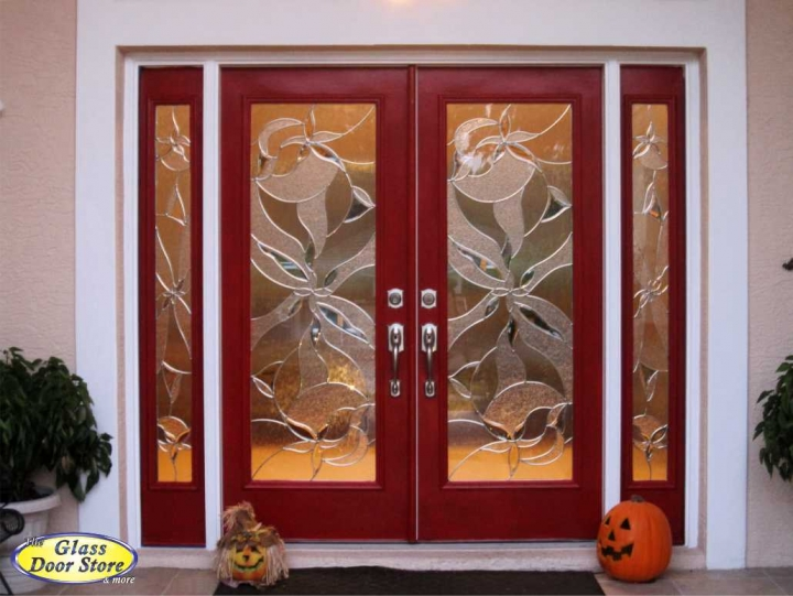 Shimmering modern decorative glass inserts replace tampa for Glass door design jobs