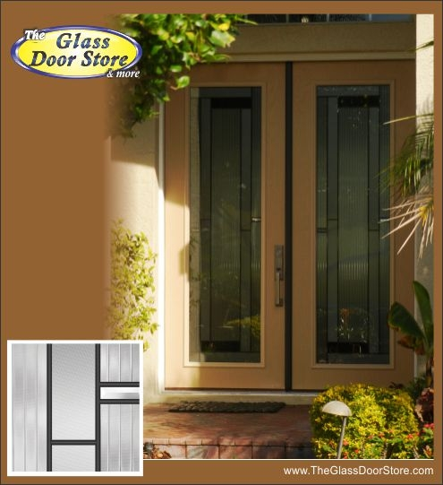 Modern Double Front Entry Doors Skyi 8 Ft