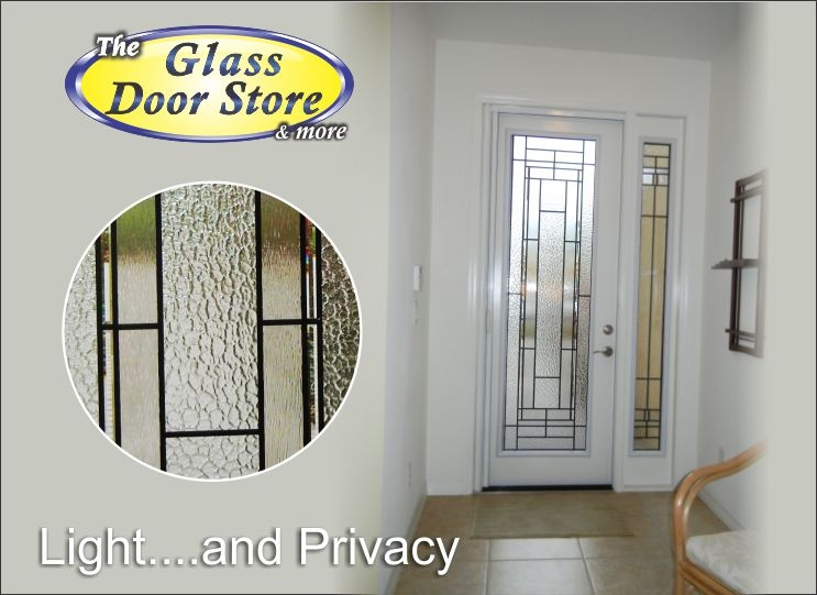 Tall front door- Add glass inserts to your door