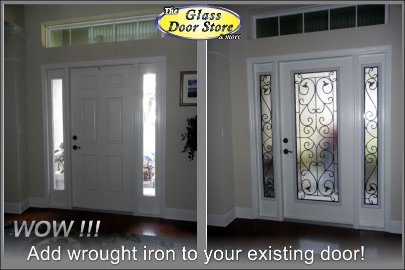 Wrought Iron Added To The Front Door Inside