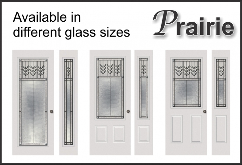 Craftsman Prairie door glass all size options
