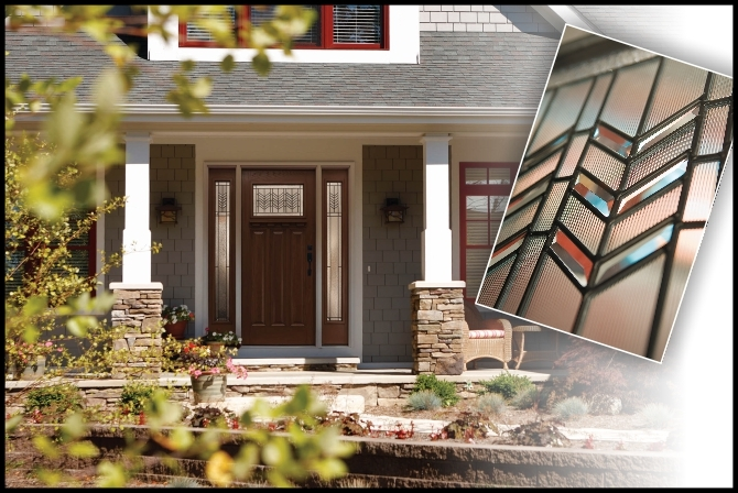 Prairie Single Craftsman Front Door With Double Sidelights