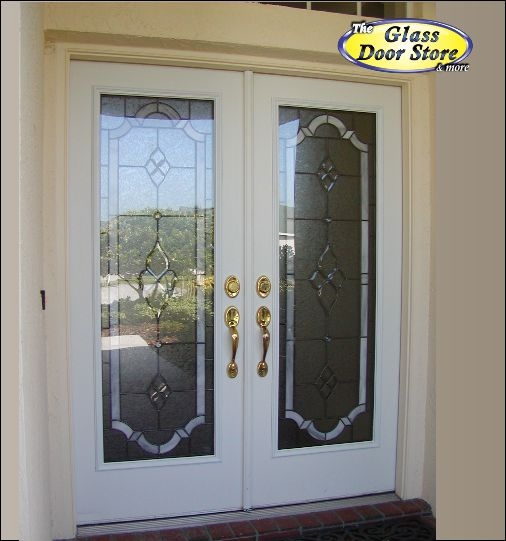 Double front door glass for White front door with glass