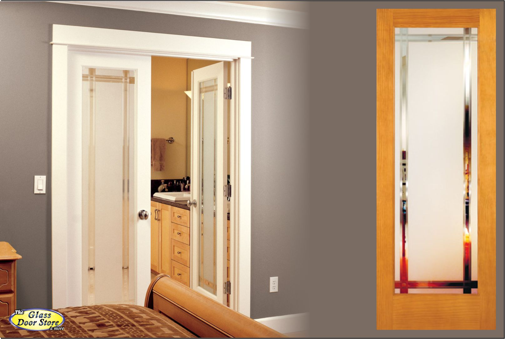 Barn doors frosted glass work room interior barn doors for Barn door interior doors