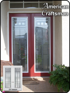 craftsman traditional glass door insert for single or double doors