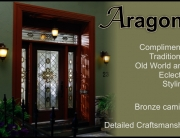 Old World Eclectic style glass front door