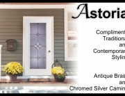 Astrid single front door with glass door insert