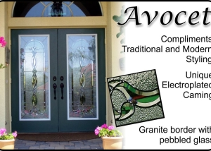 Traditional Glass door insert for fiberglass entry doors