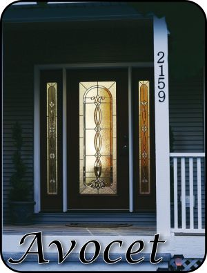 Traditional type design Glass Inserts for fiberglass doors