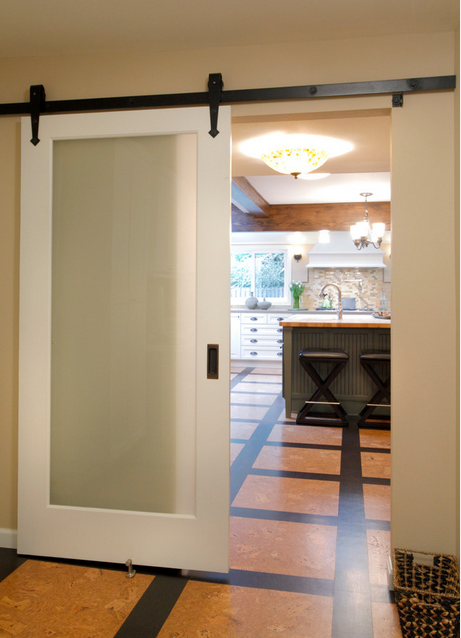 this is a pained frosted one light door this is the most affordable option of all doors and is very functional - Frosted Glass Barn Door