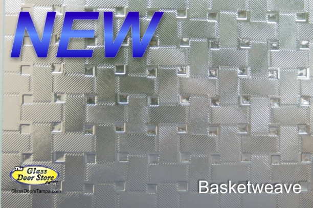 Basketweave cabinet glass NEW