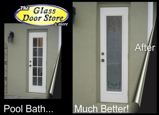 your bathroom exterior doors need privacy the glass door store rh glassdoorstampa com Shower Doors Shower Doors