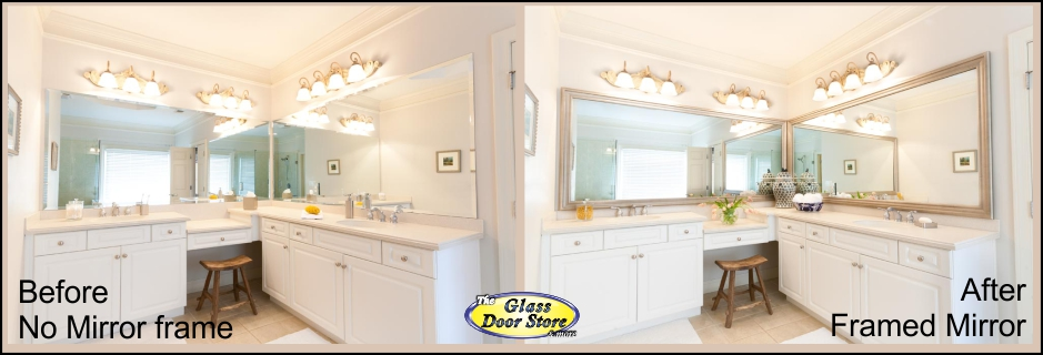 Wonderful Bathroom Mirror With Frame Added To Existing Mirror Over Sink