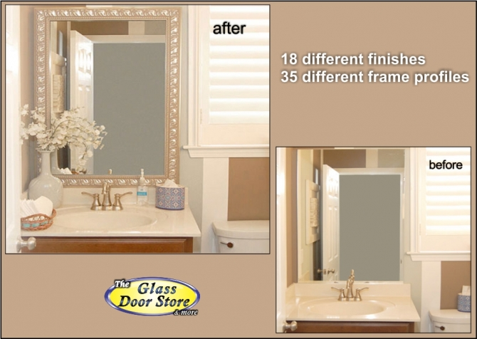 Bathroom Mirror Door mirror frame kits for bathroom mirrors