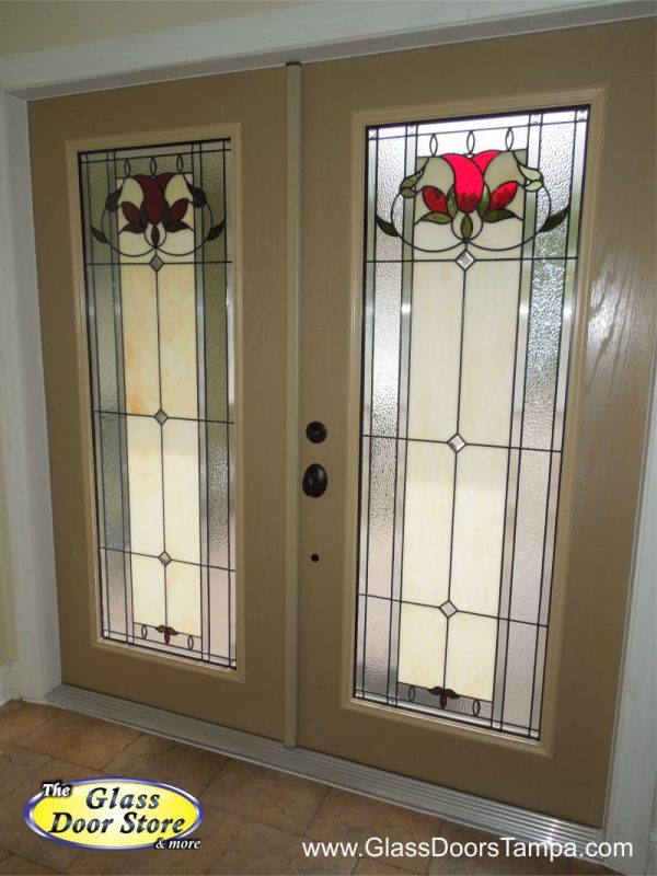 Bellflower in double front entry doors