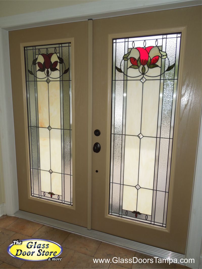 double doors front fiberglass system entry