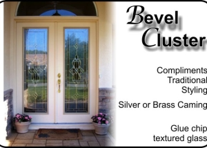 Bevel Cluster traditional double entry doors