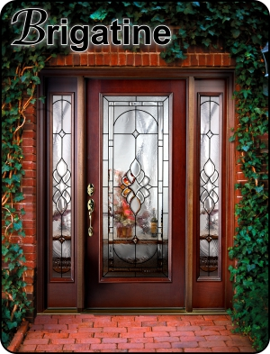 front entry door with sidelights in a fiberglass entryway