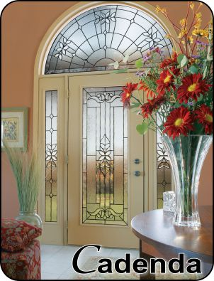 Traditional Style or Old World glass insert for front entry door