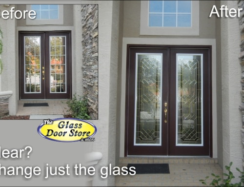 Get a decorative glass door! Living in a clear glass fishbowl?