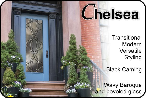 Chelsea Modern Glass Door Insert