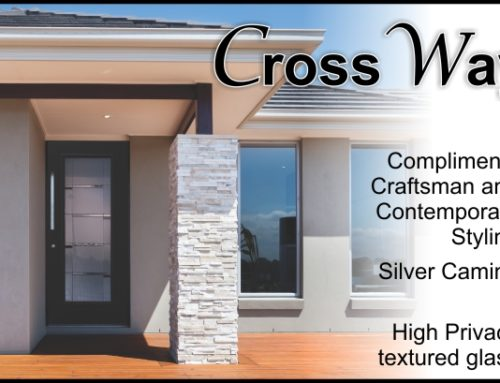 CrossWay Linear Style Glass Door Insert