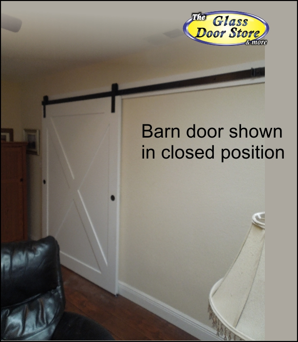 View Larger Image Barn Door With X Pattern And Exposed Track Hardware