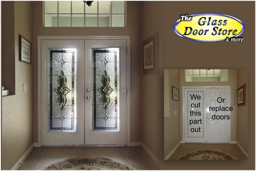 View Larger Image Cut Double Metal Front Doors To Add Glass Door Inserts