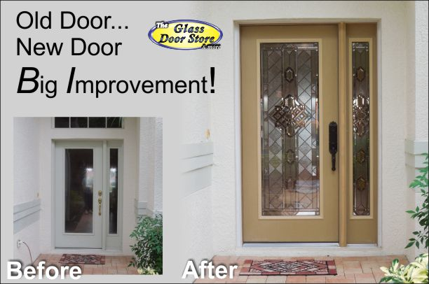 View Larger Image New Door Installation Makes Improvement For This Home Front Entry