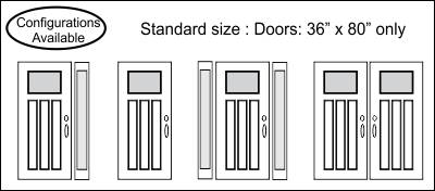 Door Sizes Available Drawing Craftsman 3 Panel