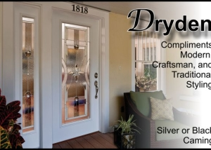 Transitional or Modern fiberglass front entry door in Tampa home