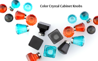 colored glass cabinet knobs