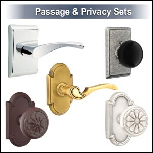Emtek door knobs and levers passage privacy and dummy door hardware