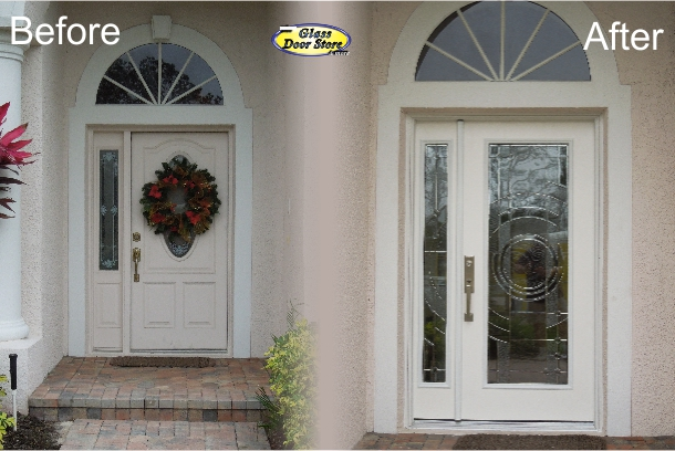 A Single Front Door with a Sidelight that Opens - The Glass Door Store