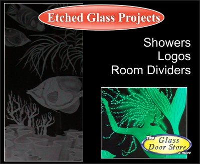 etched glass for doors and interior glass