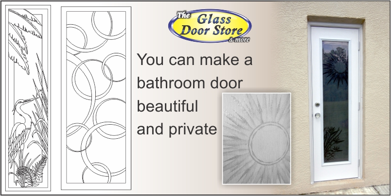 Frosted Etched Glass Can Be Used For Bathroom Exterior Doors