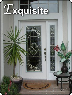 Traditional Style glass front entry door