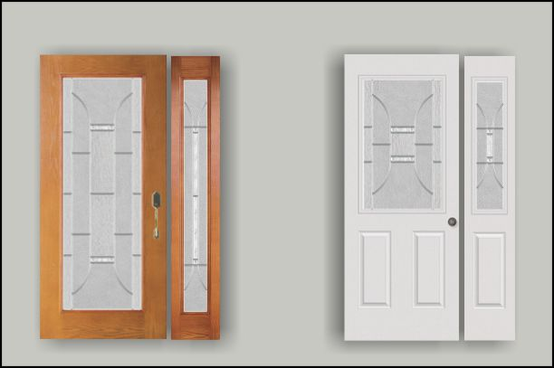 Full size and half size glass door inserts