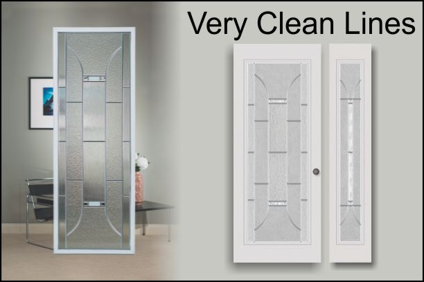 Modern Exterior Door With Glass Inserts