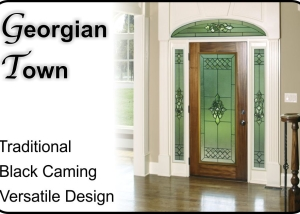 plastpro Fiberglass door with georgian town glass insert