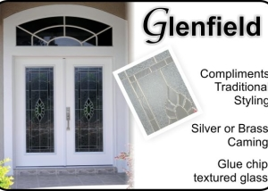 traditional front entry door glass insert with beveled glass