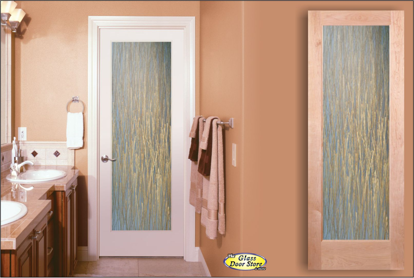 Interior doors glass doors barn doors office doors etched glass for 5 panel frosted glass interior door