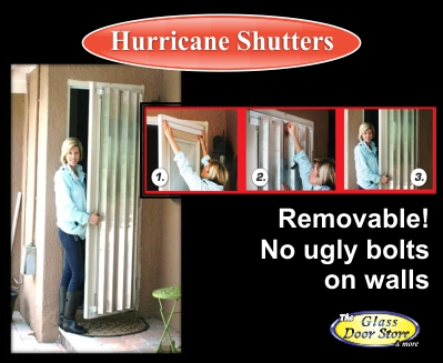 removeable hurricane shutters for doors