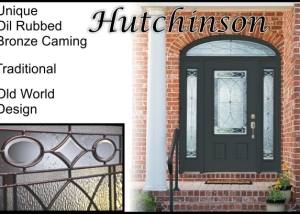 Old World Traditional Glass front entry door in plastpro fiberglass