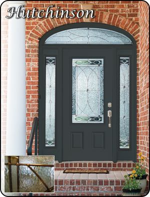 Oil rubbed bronze caming in old world style traditional glass front door