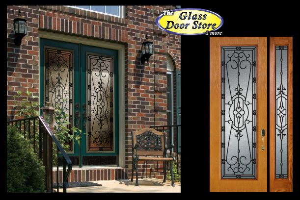 Wrought Iron Door inserts for 30u2033 doors & Glass door inserts for 30 inch doors
